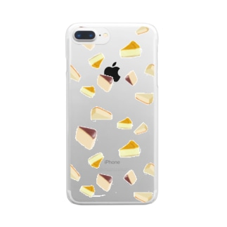 チーズケーキ 愛 Clear smartphone cases