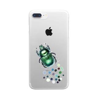 コガネムシ1 Clear smartphone cases