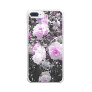 薔薇 Clear smartphone cases