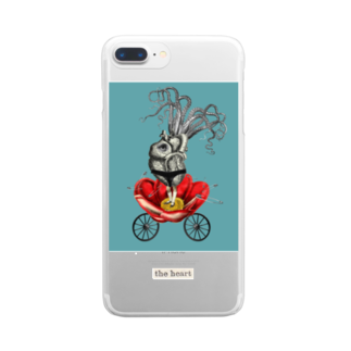 minorysのMy sweet boy(The heart) Clear smartphone cases