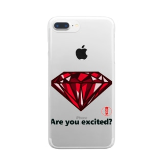 are you excited ? 赤 Clear smartphone cases