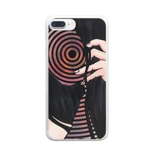 考えは渦巻く Clear smartphone cases