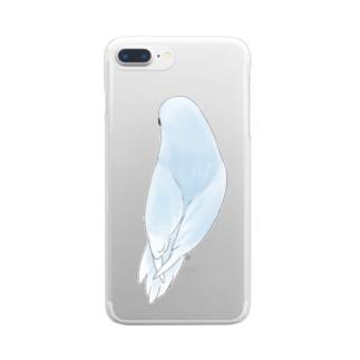 見返り美人マメルリハちゃん【まめるりはことり】 Clear smartphone cases