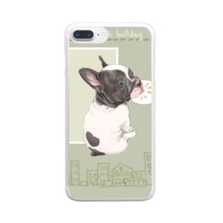 ふれふれフレンチブル Clear smartphone cases