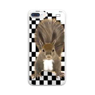 エゾリス Clear smartphone cases