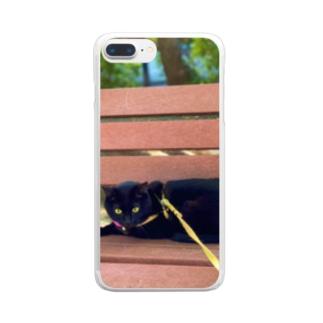 お散歩チョコさん Clear Smartphone Case