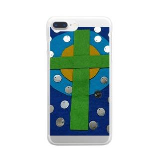 十字架 Clear smartphone cases