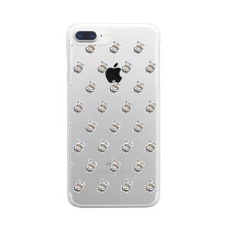 カヘオレパターン Clear smartphone cases