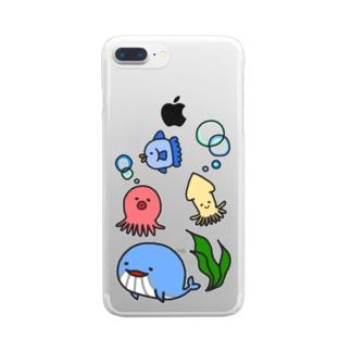うみのせかい Clear Smartphone Case