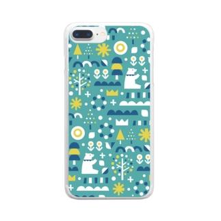 森とクマ Clear smartphone cases