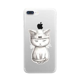 さむいから Clear smartphone cases