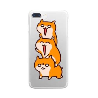 クソハムトリオ Clear smartphone cases