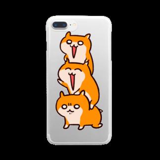 NORICOPOのクソハムトリオ Clear smartphone cases
