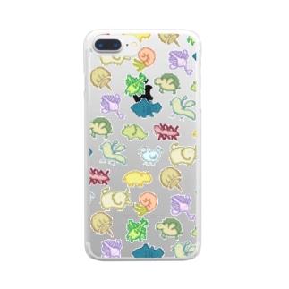 ドット古生物 Clear smartphone cases