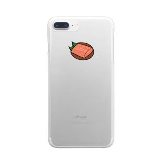 サーモン Clear smartphone cases