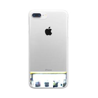 夜のドラッグストア Clear smartphone cases