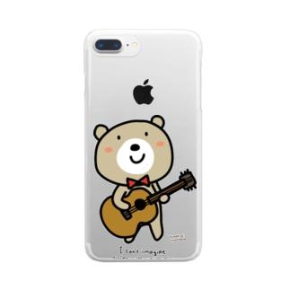 くまきちギター Clear smartphone cases