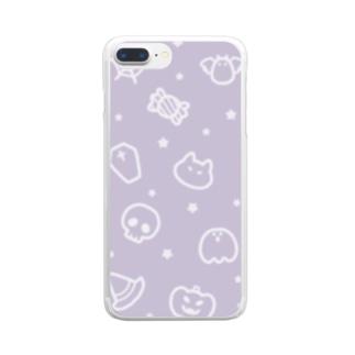 チームハロウィン パープル Clear Smartphone Case