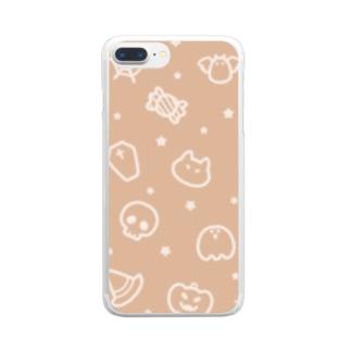 チームハロウィン オレンジ Clear Smartphone Case