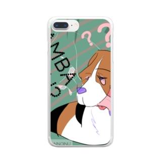 がんばらない 犬 Clear Smartphone Case