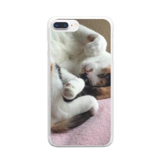 愛猫モモ Clear Smartphone Case