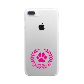 ドッグライフプランはしもとのドッグスポーツ・エクストリーム ロゴ(丸形) Clear Smartphone Case