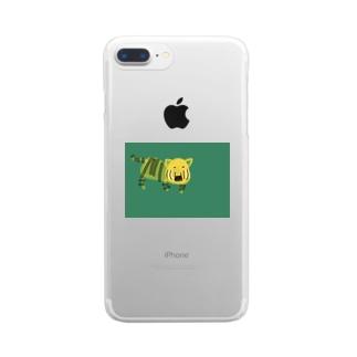 やる気のない虎さん Clear smartphone cases