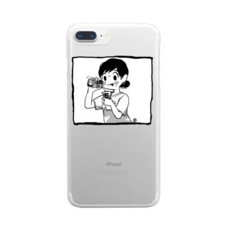 夏のドーピングT Clear smartphone cases
