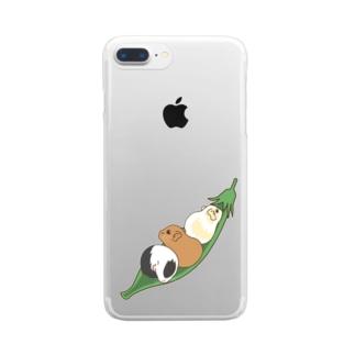 えんどう豆とモルモット Clear Smartphone Case