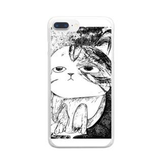 なんとも言えない表情の子猫ちゃん Clear smartphone cases