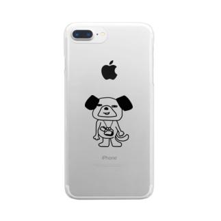 銭犬 Clear smartphone cases