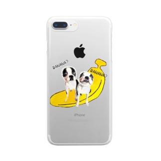 バナーナ Clear smartphone cases