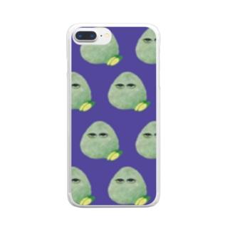 こんぶおにぎり羅列紫 Clear smartphone cases