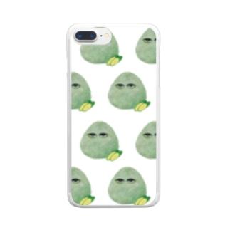 こんぶおにぎり羅列白 Clear smartphone cases