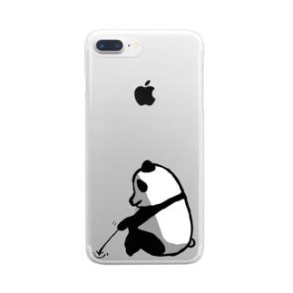 しょんぼりパンダ クリアスマートフォンケース