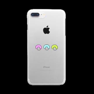 はなまるランドの🌈🍑3つ子のももこちゃん🍑🌈 Clear smartphone cases