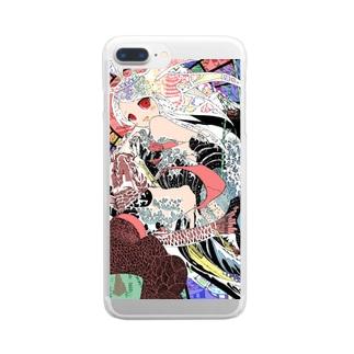 ハラキリガール(Harakiri Girl) Clear smartphone cases