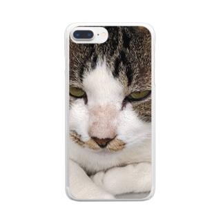 外猫サバたん Clear Smartphone Case