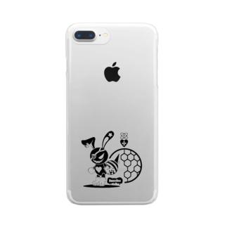 バニービー・アイパッチ Clear smartphone cases