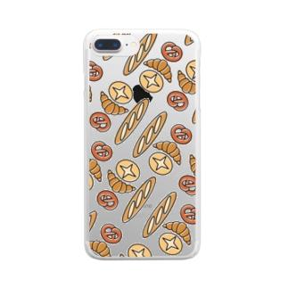 パンがいっぱい Clear Smartphone Case