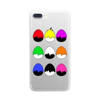 たまご型にペンキかかった(9色) Clear Smartphone Case