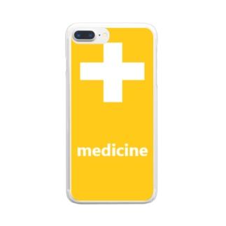薬 medicine 💊 Clear Smartphone Case