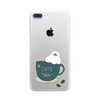 コーヒーカップ文鳥☕  (文鳥の日 2021記念) Clear Smartphone Case