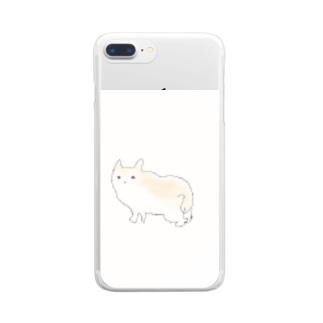 しょくぱんネコ Clear Smartphone Case