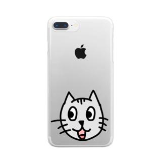 かわいいネコちゃん Clear Smartphone Case