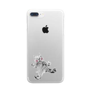 甘えんぼイヌ【ゆめかわアニマル】 Clear smartphone cases