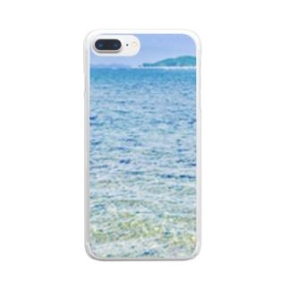 うみ Clear smartphone cases