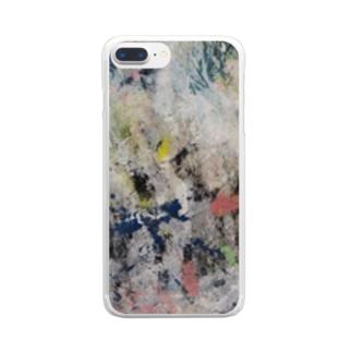 『まぼろし②』 Clear smartphone cases