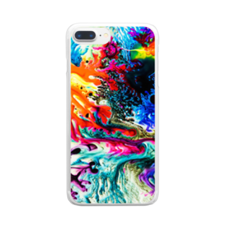 nor_tokyoのdyebirth_001 Clear smartphone cases