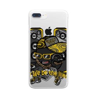 黒豆DJ クリアスマートフォンケース